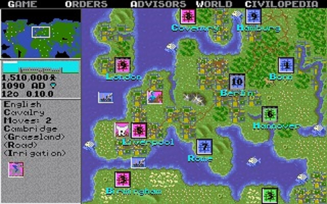Civilization's graphics were not state of the art back in 1991…